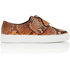ZCD Montreal Women's Senna Python Slip-On Sneakers ($698) ❤ liked on Polyvore featuring shoes, sneakers, python slip on sneakers, slip-on shoes, velcro strap sneakers, velcro shoes and slip on trainers