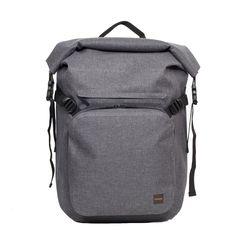 "Hamilton Men's 14"" Roll Top Backpack - Grey | KNOMO"