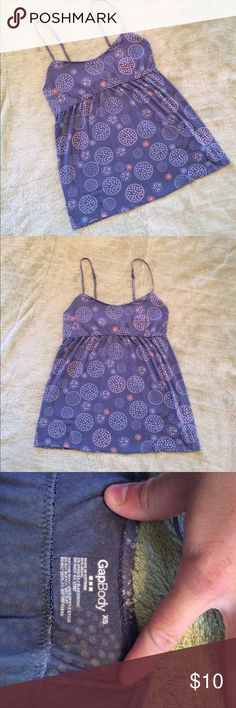 Gap Body Lounging Tank So soft and comfortable Flowy tank. This can be worn as lounge wear or everyday tank. In good condition with only minor signs of wear. GAP Tops Tank Tops