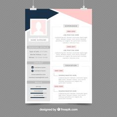 Modèle de CV élégant Vecteur gratuit