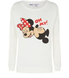 White Mickey and Minnie Sweater