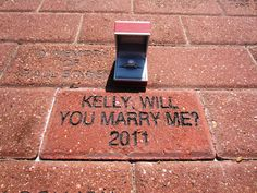Creative marriage proposal at Baylor University (Burleson Quadrangle)