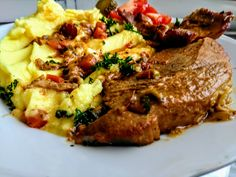 Pork Recipes, Steak, Food And Drink, Red Peppers, Steaks