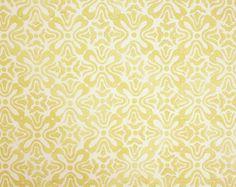 Galbraith & Paul Tulip in sprout on white linen, in custard or graphite on upholstery linen, or pale yellow on pewter velvet