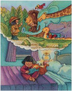 Un poco de aventura los antes de dormir?  (Ilustración de Benton Mahan)