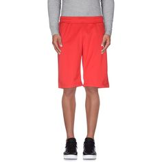 Ea7 Bermuda ($25) ❤ liked on Polyvore featuring men's fashion, men's clothing, men's activewear, men's activewear shorts, red and ea7 emporio armani