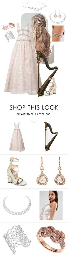 """""""Pure Maiden"""" by charlie-aw-easter on Polyvore featuring Carolina Herrera, Gucci, Sharon Khazzam, Cartier, ASOS, Kate Spade, Effy Jewelry and Luna Skye"""