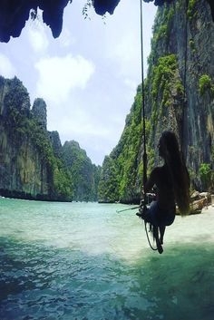 "Maya Bay - Koh Phi Phi, Thailand lisahennecke ""Beautiful view from the beach swing in Maya Bay"""