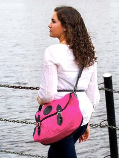 @Duluth Pack Pink! $80 for hand made USA quality! - I have this bag and love it! So sturdy and so cute :-)