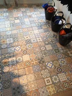Van calster natuursteen tegels en vloer belgische blauwe steen inspiratie vloeren - Imitatie cement tegels ...