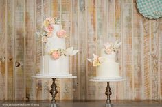 3 tier spring cake - sugar lane cake shop