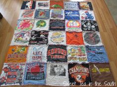 How to Make a T-shirt Rag Quilt (the non-quilter's quilt) - Sweet Tea in the South