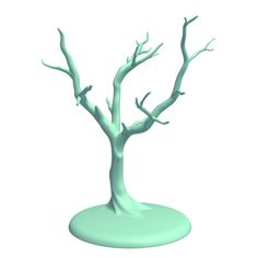 Jewelry Tree - Maple 3D Model Made with 123D MeshMixer