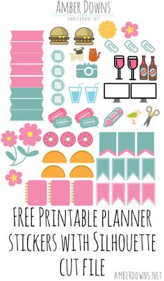 Planner stickers pink and teal Amber Downs (1)