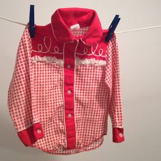 Vintage Sears Boys Red Gingham Cowboy Western by MyVintagePoint