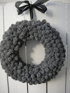 Sweet Gum Ball Wreath    Hand Crafted Wreath   Natural Wreath   Grey Wreath  Out Door Wreath
