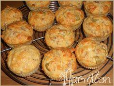 muffins au thon et aux olives - Recette de cuisine Marmiton : une recette