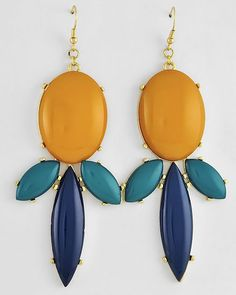 Amber Statement Earrings on Emma Stine Limited