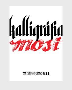 kalligráfia most by Renato Molnar, via Behance