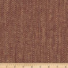 """48"""" Chevron Burlap Natural/Red Wine from @fabricdotcom  This versatile burlap fabric has numerous uses, it can be used for wall coverings, craft projects, table cloths, in the garden to protect plants from the elements, banners, bulletin boards and tote bags. The possibilities are truly endless!"""