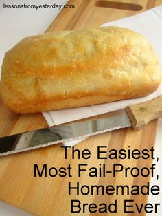 Looking for an easy and fool-proof way to make fresh, homemade bread? This recipe is practically impossible to mess up, even for beginners! Plus it's frugal and delicious--and it only requires 4 ingredients.