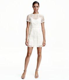 Robe courte en dentelle | Blanc | Ladies | H&M CA