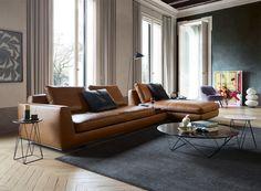 walter knoll presents tama living sofa & oki table at imm cologne 2017