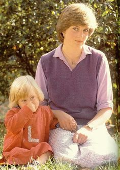 Diana shows her love of little children in this photo from the early days of her engagement