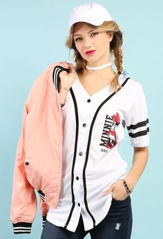 16572b42017b MINNIE 28 Baseball Jersey  19.99 Papaya Clothing