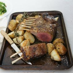 "#RecipeoftheDay: Honey and Lemon-Glazed Rack of Lamb bu jenwren59 - ""Came out perfectly and the family wanted more!"" - Aussiee"