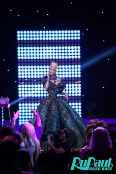 Violet Chachki at the end of her reign as RuPaul's Drag Race Season 7 winner during the the season 8 finale!
