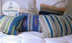 $3 DIY Kilim Pillows