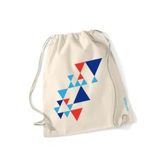 Turnbeutel  mit geometrischen Dreiceken // Gym bag with geometrical triangle print by SupaRina via DaWanda.com