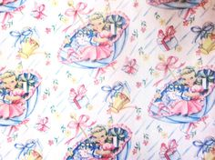 Vintage Wrapping Paper - Ben Mont Shower - One Full Sheet Gift Wrap