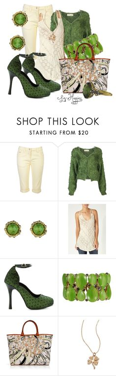 """March 17th, Here I Come!"" by liz-higgins ❤ liked on Polyvore featuring Toga, Alexis Bittar, Quiksilver, Bettie Page, Roberta Chiarella, Emilio Pucci and Sydney Evan"