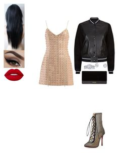 """Untitled #602"" by insafsat on Polyvore featuring David Koma, Christian Louboutin, rag & bone, Balmain, Angel Sanchez and Lime Crime"