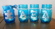 How To: Light It Up Blue Candle Holders | Alpha Xi Delta