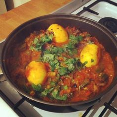 Burmese duck egg curry with okra and chillies.   #burma #food #recipe