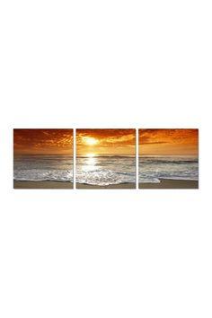 Corsica Sunset Vinyl Wall Art - Set of 3 on HauteLook