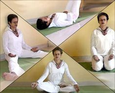 Sitting in Full Lotus position is not necessary for meditation. You can sit, lay down or even kneel as shown in this picture. The idea is to be comfortable, with your back straight and in a position that does not cause you pain. Focusing on your breath and having some quiet time to yourself is the main objective!