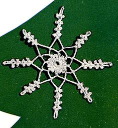Link to download vintage  Snowflake Ornament crochet Pattern