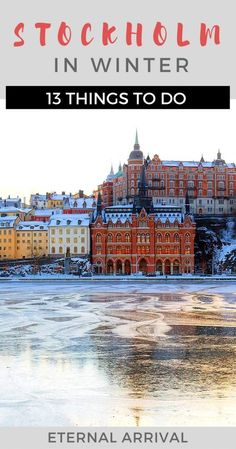 Stockholm in winter is a wonderful place to visit, with many things to do. Food tours, museums, walking tours, the Old Town. Stockholm Winter, Visit Stockholm, Stockholm City, Dubrovnik, Places To Travel, Places To Visit, Travel Things, Dublin, Utrecht