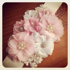 Pink & Ivory Maternity Sash