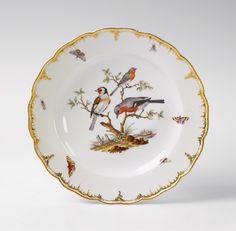 "original Pattern of Berlin KPM ""Neuglatt"" for Landgraf Carl of Hessen-Kassel...dated 1779.  Herend must have copied this for Rothschild Bird"