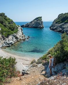 In the secret beach of Spilia, Skopelos Island, Greece (4 August 2027, Nikon D5200) #skopelos #skopelosisland #kings_greece…