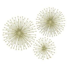 Three Hands Co. 3 Piece Metal Starburst Wall Décor Set Color: Gold