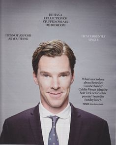 FANTASTIC article with Benedict. The love just never ends.
