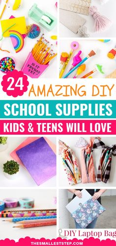 Need fun diy projects before you head back to school? Then try making these SUPERB diy school supplies that will even shock your friends! Find the most creative DIY stationary projects which includes pens, pencils, cute notebooks, backpacks and more. Diy Back To School Supplies, Diy Crafts For School, Diy And Crafts, Diy Supplies, Diy Stationary Projects, Diy Laptop, Cool Diy Projects, Decoration, Easy Diy