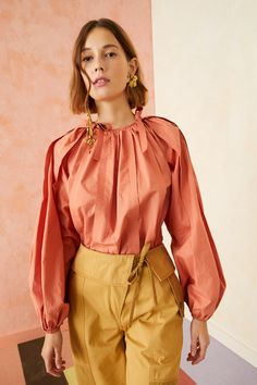 Trousers Women Outfit, Aragon, French Chic, Ulla Johnson, Poplin, Bodice, Ready To Wear, Ruffle Blouse, Clothes For Women