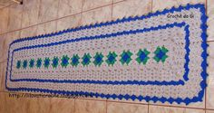 Crochê da Gi: Passadeira de crochê feita com barbante